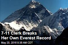 7-11 Clerk Breaks Her Own Everest Record