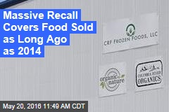 Massive Recall Covers Food Sold as Long Ago as 2014