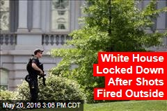 White Housed Locked Down After Shots Fired Outside