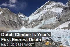 Dutch Climber Is Year's First Everest Death