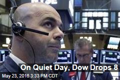 On Quiet Day, Dow Drops 8