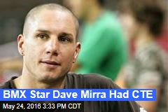 BMX Star Dave Mirra Had CTE