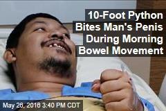 10-Foot Python Bites Man's Penis During Morning Bowel Movement