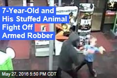 7-Year-Old and His Stuffed Animal Fight Off Armed Robber