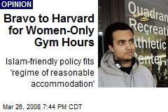 Bravo to Harvard for Women-Only Gym Hours