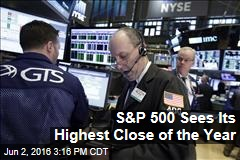 S&P 500 Sees Its Highest Close of the Year