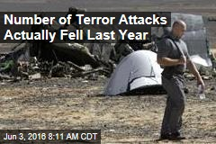 Number of Terror Attacks Actually Fell Last Year