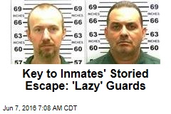 Key to Inmates' Storied Escape: 'Lazy' Guards