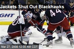 Jackets Shut Out Blackhawks