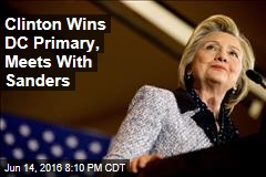 Clinton Wins DC Primary, Meets With Sanders