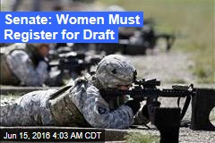 Senate: Women Must Register for Draft