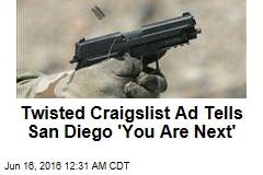 Craigslist Ad Threatens San Diego Massacre