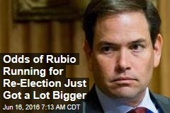 Odds of Rubio Running for Re-Election Just Got a Lot Bigger