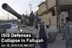 ISIS Defenses Collapse in Fallujah