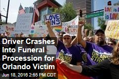 Driver Crashes Into Funeral Procession for Orlando Victim
