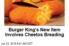 Burger King's New Item Involves Cheetos Breading