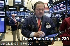 Dow Ends Day Up 230