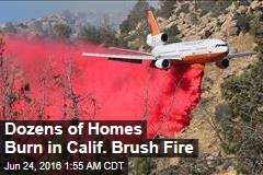 Dozens of Homes Burn in Calif. Brush Fire