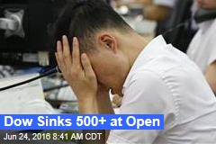 Dow Sinks 500+ at Open