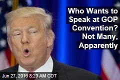 Who Wants to Speak at GOP Convention? Not Many, Apparently