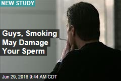 Guys, Smoking May Damage Your Sperm