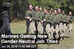 Marines Getting New Gender-Neutral Job Titles