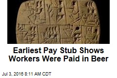 Earliest Pay Stub Shows Workers Were Paid in Beer