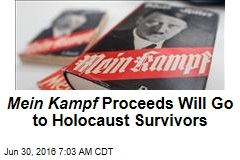 Mein Kampf Proceeds Will Go to Holocaust Survivors