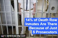 14% of Death Row Inmates Are There Because of Just 5 Prosecutors