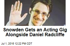 Snowden Gets an Acting Gig Alongside Daniel Radcliffe
