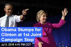 Obama Stumps for Clinton at 1st Joint Campaign Stop