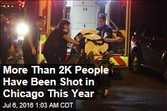 More Than 2K People Have Been Shot in Chicago This Year