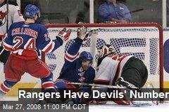 Rangers Have Devils' Number