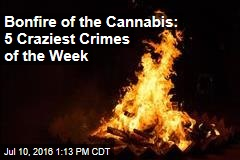 Bonfire of the Cannabis: 5 Craziest Crimes of the Week