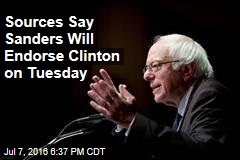 Sources Say Sanders Will Endorse Clinton on Tuesday