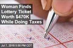 Woman Finds Lottery Ticket Worth $470K While Doing Taxes