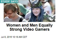 Women and Men Equally Strong Video Gamers
