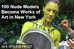 100 Nude Models Become Works of Art in New York