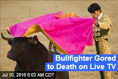 Bullfighter Gored to Death on Live TV