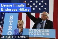 Bernie Finally Endorses Hillary