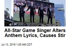 Canadian Sings 'All Lives Matter' at All-Star Game