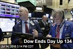 Dow Ends Day Up 134