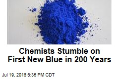 Whoops: Chemists Stumble on 1st New Blue in 200 Years