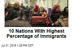 10 Nations With Highest Percentage of Immigrants