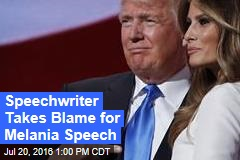 Speechwriter Takes Blame for Melania Speech