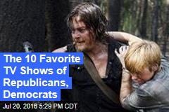 The 10 Favorite TV Shows of Republicans, Democrats