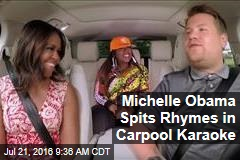 Michelle Obama Spits Rhymes in Carpool Karaoke