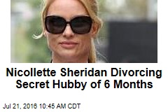 Nicollette Sheridan Divorcing Secret Hubby of 6 Months