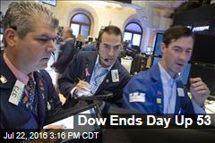 Dow Ends Day Up 53