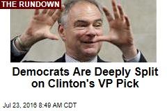 Democrats Are Deeply Split on Clinton's VP Pick